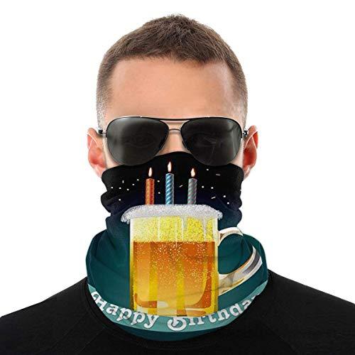 Trista Bauer Feliz cumpleaños cerveza multifuncional cuello polaina cara bufanda bandana para polvo diadema calentador de cuello sin costuras