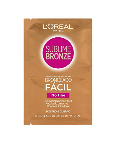 L'Oréal Sublime Bronze Self Tan Easy Tanning Wipes x2
