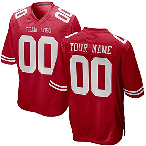 Custom All Teams Fashion Style Design Football Jerseys Personalized Any Name and Number Jerseys Mens Womens Youth (S F.49er)