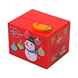 WooDlan Stealing Coin Piggy Bank Snowman Stealing Coin Bank Musical Piggy Bank Kids Money Bank Works with All Coins Compatible with Birthday Christmas Baby Shower Party Favor