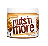 Nuts 'N More Toffee Crunch Peanut Butter Spread, All Natural Keto Snack, Low Carb, Low Sugar, Gluten Free, Non-GMO, High Protein Flavored Nut Butter (16 oz Jar)