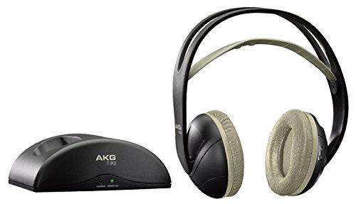 AKG Stereo Wireless Funk-Kopfhörer (weich, gepolstert, aufladbar, legendärer AKG-Soundqualität, inkl. Ladeschale Dockingstation, geeignet für Apple iOS/Android Geräten) schwarz