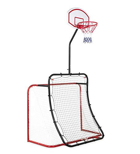 HearthSong All-in-1 Sports Set: Basketball Baseball Lacrosse Soccer, Outdoor Trainer 62