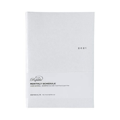 ハイタイド 手帳 2021年 A5 マンスリー レプティラ ホワイト 21NF3 (2020年10月始まり)