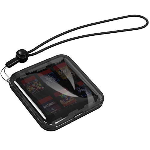 MoKo Custodia Porta Giochi Custodia Giochi Compatibile con Nintendo Switch con 12 Scompati Cartucce Giochi, Schede SD, Impermeabile, Accessori Switch Accessori, Porta Cartucce per Giochi Switch – Nero