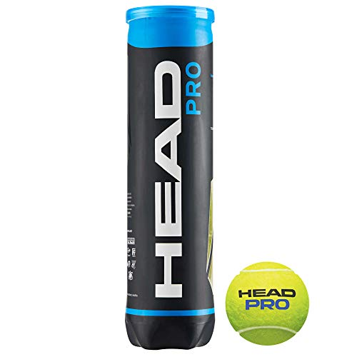 HEAD Tennisbälle Pro 4er, Gelb, One Size, 571034