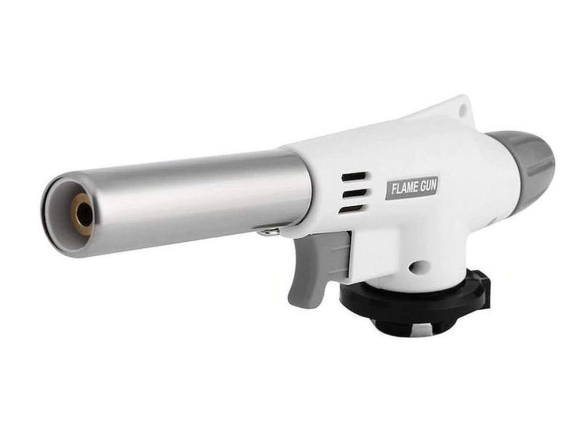 コーヒー信頼性のあるアイロニーガストーチ ガスバーナー 1300度 家庭用カセットガス使用 クッキングトーチ 一発点火 DIY 逆さまでも360度方向で利用可能