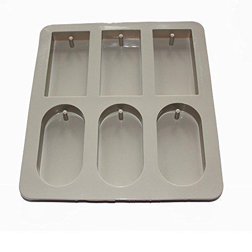 X-Haibei Round Rectangle Aromatherapy Wax Candle Plaster Epoxy Soap Silicone Mold