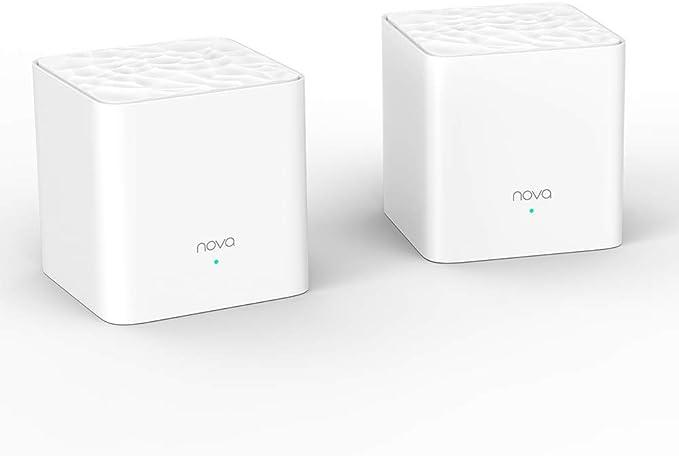 Tenda Nova MW3 Mesh - AC1200 Router Sistema WiFi de Red en Malla (Dual Banda, Seamless Roaming, Fast Ethernet, Control Parental), pack 2
