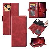 SOUFU para Xiaomi Redmi Note 11 Pro,Billetera De Cuero con Tapa,Estuche con Tapa con [Soporte] y [Ranura para Tarjeta],Adecuado para Xiaomi Redmi Note 11 Pro(Rojo)