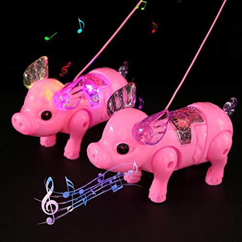 FORMIZON LED Spielwaren Party, 2 Pcs LED Leuchtspielzeug Partyartikel, LED Leuchtendes Schwein, Kindergeburtstag Gastgeschenke, Blinkt Partyspielzeug für Weihnachten, Halloween, Feiern Neujahrsparty