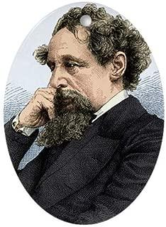 TiuKiu Charles Dickens, English Author Flat Oval Ornament -Christmas/Holiday/Love/Anniversary/Newlyweds/Keepsake - 3