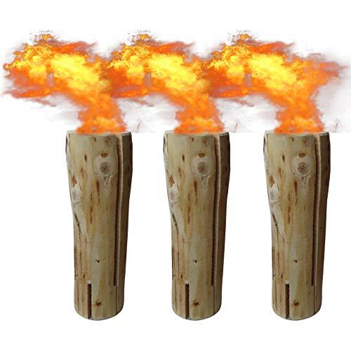 3 x Schwedenfeuer inkl. Anzünder   Finnenfeuer   Baumstammfackel   Gartenfackel   Lichtrollen   Höhe ca. 47cm, Durchmesser ca. 15-17cm, Brenndauer ca. 100-120 Minuten