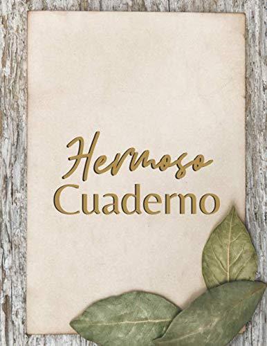 Hermoso Cuaderno: Cuaderno bonito de notas - Páginas decoración de madera- Para escribuer, scrapbook, origami (Cuaderno Creativo)