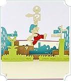 BC Worldwide Ltd handgemachte 3D Pop-up-Grußkarte Geburtstag Weihnachten Neujahr Valentinstag Vatertag Muttertag Party Einladung Cartoon PC-Spiel Super Mario Bruder Papercraft Geschenk
