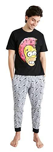 Pijama Homer Simpson para hombre con licencia oficial | Los Simpsons Pj Set pequeño – XL