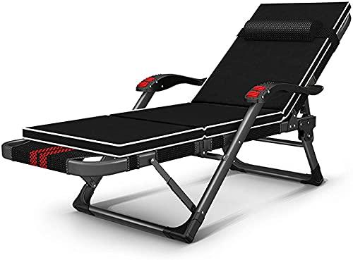 Tumbonas reclinables plegables al aire libre, tumbonas reclinable de gravedad cero, silla de playa plegable al aire libre, pasamanos de masaje de terraza de jardín, silla larga ajustable de patio, B