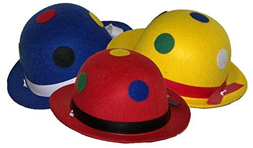 Karneval-Klamotten Kostüm Melone Clown mit Punkte Zubehör Fasching Karneval