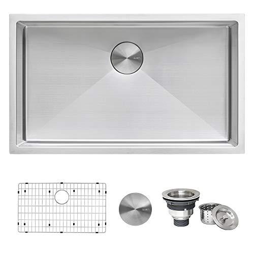 Ruvati 33-inch Undermount 16 Gauge Tight Radius Large Kitchen Sink Stainless Steel Single Bowl -...