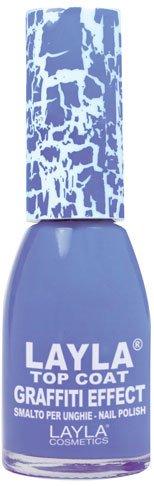 Layla Cosmetics Top Coat Graffiti nagellak, lichtblauw ocean, per stuk (1 x 0,01 L)