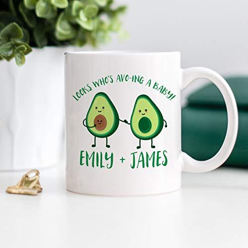 Keramik-Kaffeetasse, 325 ml, Avocado-Tasse, neue Eltern, neue Mutter, gute Fetttasse, Ankündigung eines Babys, Schwangerschaftsgeschenk