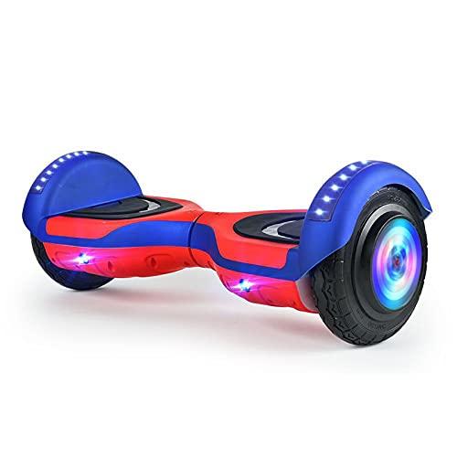 ZEMENG Hoverboard, 6,5'Neumáticos Balance Hoverboard con luz LED, con Luces Bluetooth y Luces Coloridas Scooter de Equilibrio, Scooter eléctrico para niños Adultos Regalo