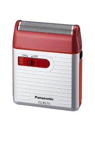 Panasonic Men's Shaver for Traveler ES-RS10-R Red | DC3V (2 x AA Alkaline) (Japan Model)