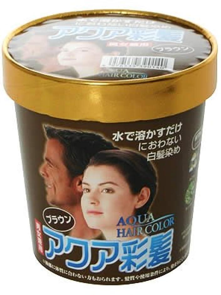 魚概して連続的アクア彩髪 男女兼用 ブラウン 15g*4袋