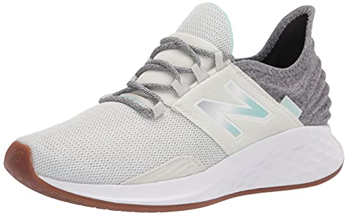 New Balance Women's Fresh Foam Roav V1 Sneaker, Arrowroot/White Mint, 7.5