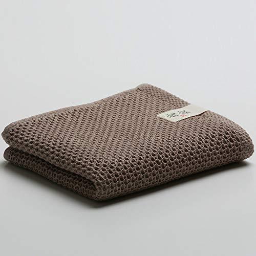 CMZ Toallas de algodón Summer Toalla de Cara de Pareja de Color Puro Aumenta la Toalla de Nido de Abeja Suave y Absorbente (33x72 cm)