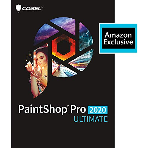 Corel | PaintShop Pro 2020 Ultimate | Photo Editing and Graphic Design | Amazon Exclusive Includes Free ParticleShop Plugin and 5-Brush Starter Pack Valued at $39 [PC Download][Old Version]