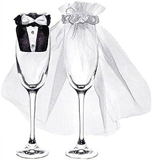 comprar comparacion PartyDeco uk-karton–Juego de 2piezas para cubrir las copas - Forma de vestidos de novios