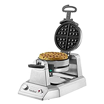 Waring Commercial WW180X Heavy Duty Double Belgian Waffle Maker Coated Non Stick Cooking Plates Produces 50 Waffles Per Hour,120V 1400W 5-15 Phase Plug