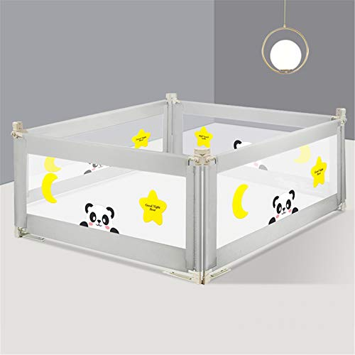 46.8 Inch Bed Rails for Toddlers, Vertical Lifting Bed Guardrail with Reinforced Anchor Safety System, Safety Baby Bed Rail for Large Bed & Double Bed