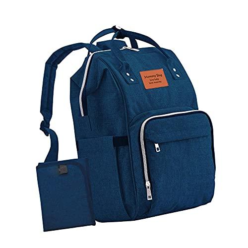 Soapow Mochila de gran capacidad para pañales multifunción mochila de viaje para papá mamá bebé artículos esenciales