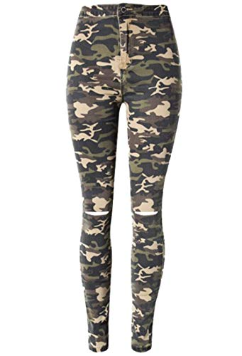 Andongnywell Women Camouflage Leggings Fashion Plus Size Trousers Sport Hole Casual Pants (Camouflage,Medium)