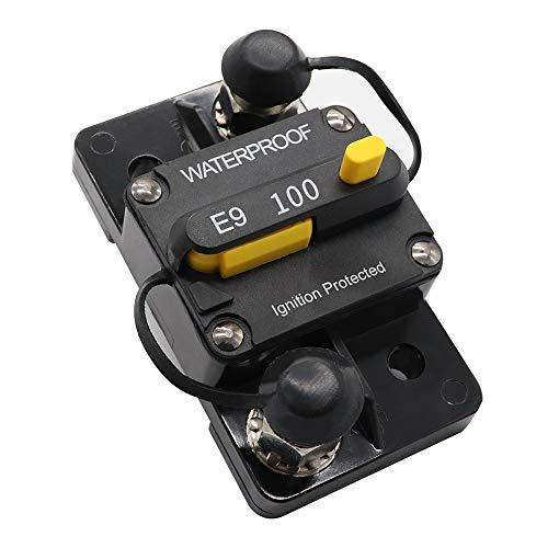 Circuit Breaker,100A Disyuntor Doble batería Restablecimiento manual IP67 Impermeable 12V 24V Fusible