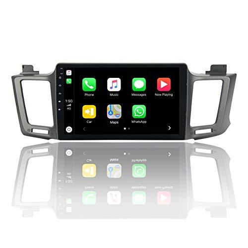 ViaBecs 10.2' Bluetooth Car Stereo Apple Carplay for Toyota RAV4 RAV 4 2013 2014 2015 2016 2017 2018 Head Unit Single Din Car Radio Support GPS Navigation WiFi FM/AM Handsfree Calling 1280x720