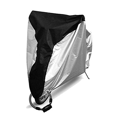 KINGEE Bicycle Cover for Outdoor Storage, Strong Ripstop Waterproof & Anti-UV Protection Rain Snow Dust Proof 190T, Stationary Use for Yard Or Garden, Tarp for Bikes, Travel Use for Car Racks,Black,X