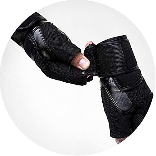 Small-shop-gloves Mancuernas Deportivas para Hombre de Medio Dedo, Color Negro, para Levantamiento d