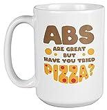 IUBBKI Abs are Great but Have You Proved Pizza Fun Tazza da caffè e tè, souvenir (425,2 g)