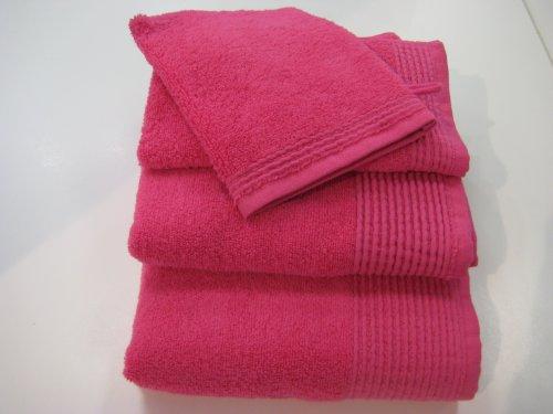 St. Barth Gästetuch uni pink 30 x 60 cm 100prozent Baumwolle Micro-Cotton
