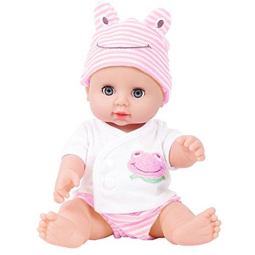 DOGZI Reborn Bebé Muñeca Blink Emulada Suave Niños Renacido Picardias Juguetes Niño Niña Regalo de cumpleaños,Adecuado para Edades 3+,Viernes Negro Juguetes para niños