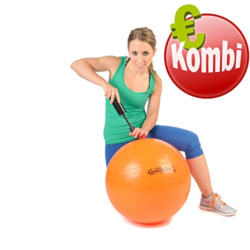 Original Pezzi Gymnastik Ball 53cm plus Pumpe Sitz Therapie Pilates orange