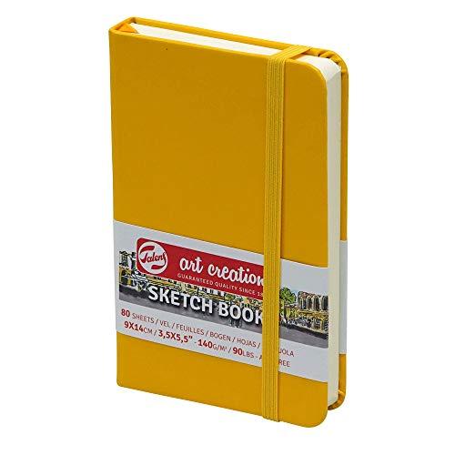 Skizzenbuch, A6, 80 Blatt, 140g/m², Gelb Hardcover