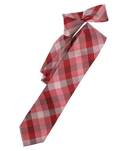 Venti Herren Krawatte kariert Rot Einheitsgröße