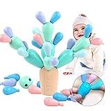 Sunshine smile Balance Kaktus,Kaktus Spielzeug,holzblöcke Spielzeug,Montessori holzspielzeug,lernspielzeug Holz für Kinder,geschicklichkeitsspiel,konstruktionsspielzeug…