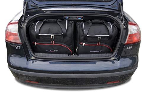 KJUST Kofferraumtaschen 4 STK Set kompatibel mit SAAB 9-3 Cabrio II 2002 - 2011