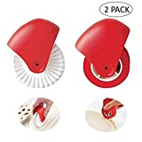 AUOKER Pastry Wheel Decorator, Pastry Wheel Cutter, Beautiful Pie Crust Pie Crust Edge Crimper, Easy To USE With QUICK RESULTS, BPA-free Disassembles For Easy Cleaning(A B)