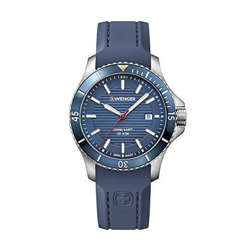 Wenger Herren Seaforce - Swiss Made Analog Quarz Edelstahl/Gummi Uhr 01.0641.124